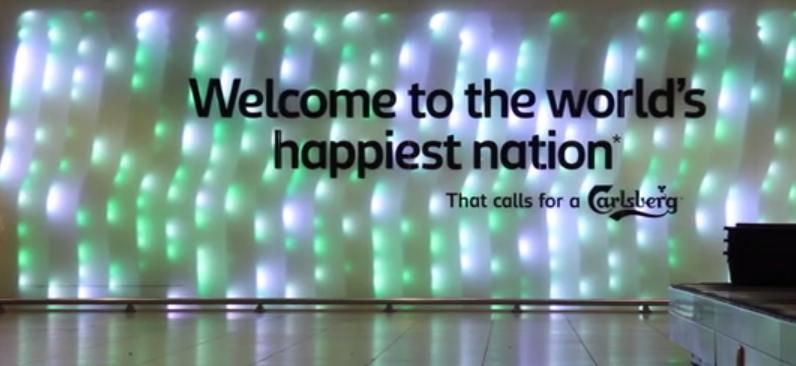 Carlsberg ad in Copenhagen airport