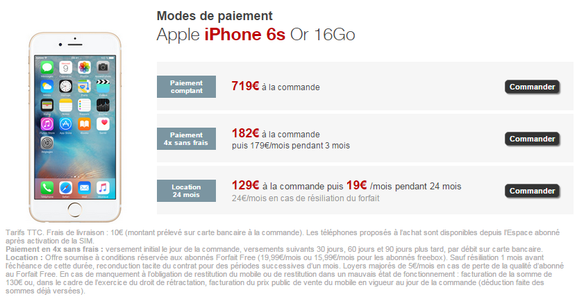 Free iPhone payment options